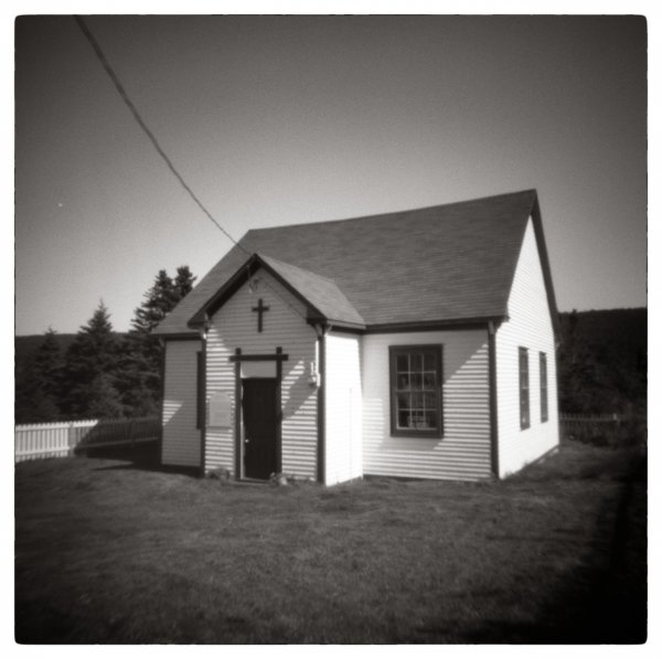 The Old Schoolhouse, Holga 120 PC, ©Robert Crutcher 2015