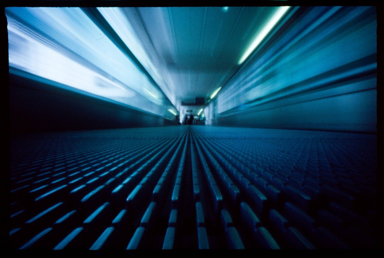 Movements 7 – arriving at the airport, P-sharan pinhole camera, Fuji Provia 400, ©Martin Martinsson 2015