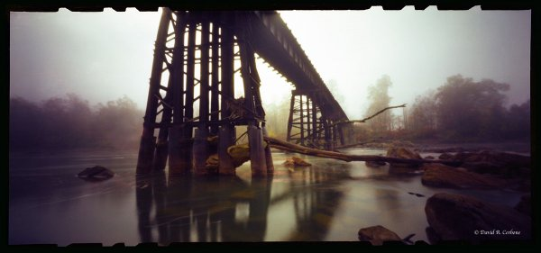 Railroad Bridge with Fog, ©David Cerbone 2015