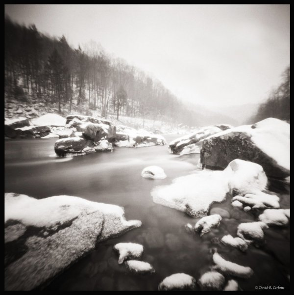 River Rocks with Snow, ©David Cerbone 2015